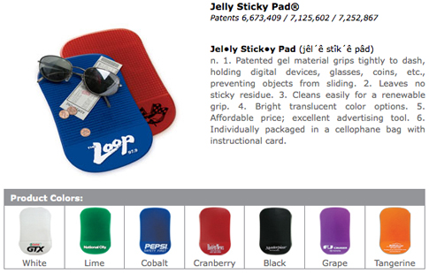 jelly sticky pad