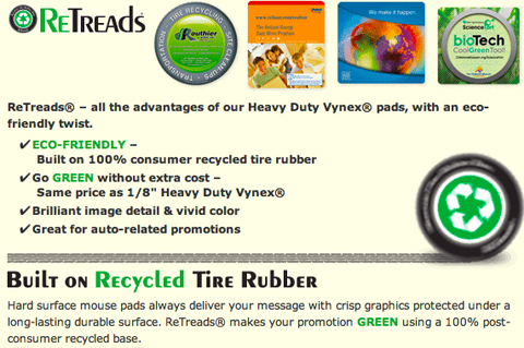 ReTreads Recycled Hard Top Mouse Pads